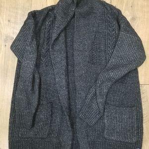 Classic Cozy Blue Cardigan Sweater Sz M A&F
